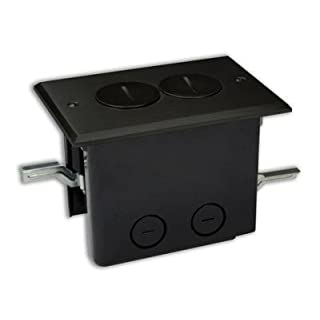 Allied Moulded FB-2DB Duplex Receptacle, 1-Gang, Floor Box Assembly by Allied Moulded