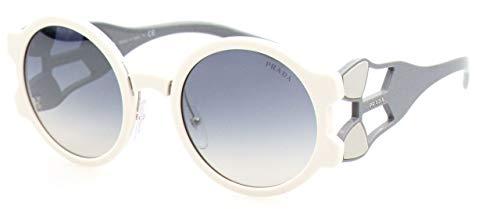 Prada Damen 0PR13US YEB5R0 54 Sonnenbrille, Weiß (Ivory/Light Blue Silver),