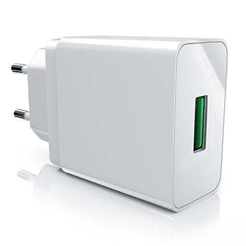 csl - 18w caricabatterie da muro usb quick charge 1 port - ricarica rapida - tecnologia intelligente smart charge
