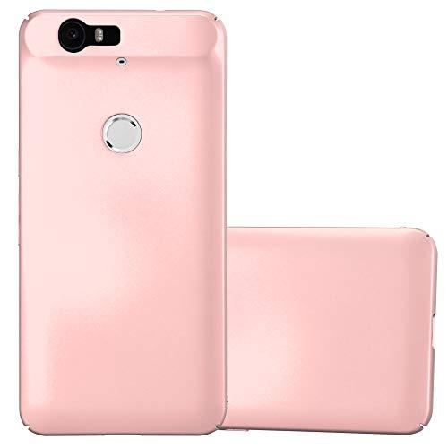 Cadorabo Hülle für Huawei Nexus 6P - Hülle in Metall Rose Gold – Hardcase Handyhülle im Matt Metal Design - Schutzhülle Bumper Back Case Cover