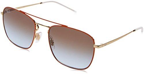 Ray-Ban RAYBAN Herren Sonnenbrille 0rb3588 90612w 55, Gold Top On Orange/Lightbluegradientbrown