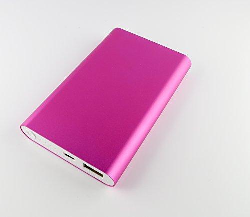 Batteria esterna, Ultra Strong Power banca 16000mAh in alloggiamento in metallo di qualità, portatile Caricatore per Smartphone, Tablet & Co. in tollem rosa