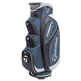 TaylorMade Golf 2018 Classic Cart Bag Mens Trolley Bag 14 Way Divider Black/Navy Heather/Silver