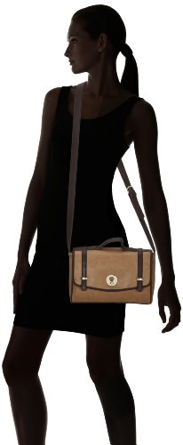 Tamaris JAMILA Satchel Bag, Borsa a spalla donna Beige (Beige (cigar 314))