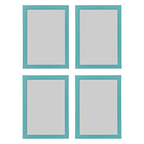 Ikea FISKBO, Lot de 4 Cadres Photo Bleu/Turquoise A4 21 x 30 cm