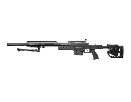 Swiss Arms Airsoft S.A.S 10 Sniper schwarz- gefedert/Spring/Aufladung Handbuch (0,5 Joule) (Airsoft Sniper Spring Rifle)