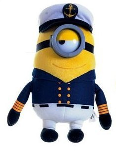 Minion Stuart Boat Captain Plush - Despicable Me - 28cm 11""