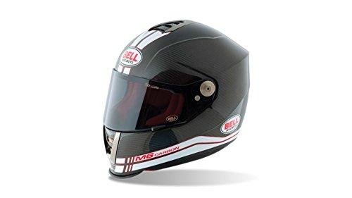 Bell Helmets Street 2015 M6 Carbon Casco Adulto, color Race Blanco, talla S