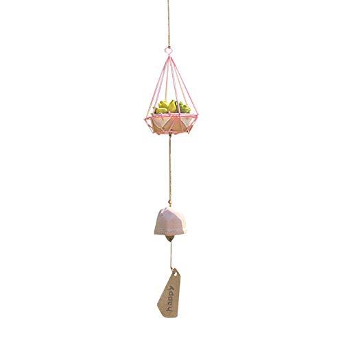 LIWEIL Psychedelische Wald Windspiel Eisen Käfig klein Sukkulente Ornament Harz Keramik Windspiel Innenausstattung Outdoor Dekor