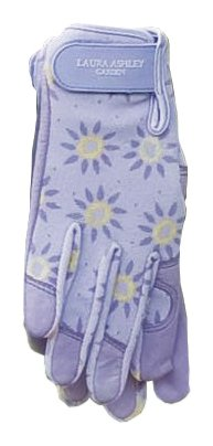 Laura Ashley 3A101185 Chic Garden Glove, Roundswood Pale Lavender, Large