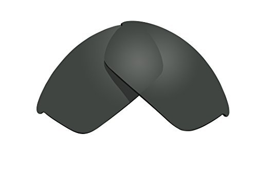 Sunglass Lenses Replacement Polarized for Oakley Flak Jacket Sunglasses - 4 Options Available (Stealth Black) by BVANQ by BVANQ