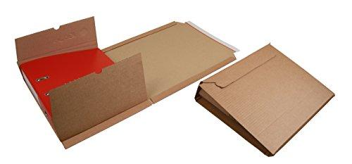 25 Ordner-Versandkartons f. DIN-A4 Ordner Gr. 320x290x35-80mm (PS.310)