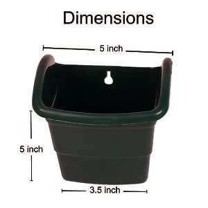 BIO BLOOMS M1 Model Vertical Green Wall Panels or Nail Hanging Type Pots (Black) -Set of 4 PCs