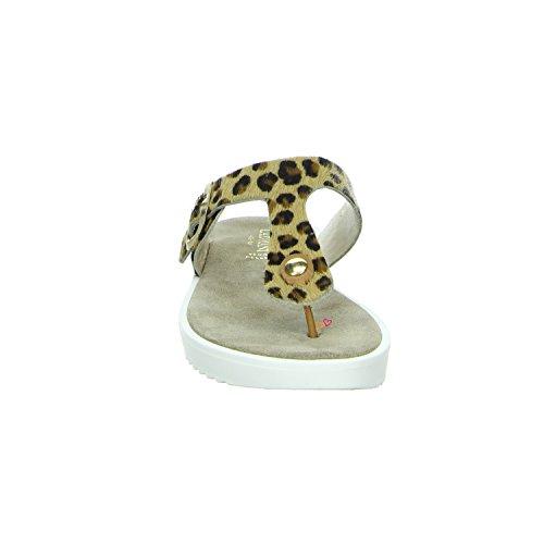 Lazamani Zehenpantolette im Leoparden Muster Leopard