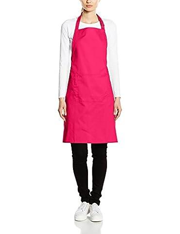 Premier Workwear Colours Bib Apron with Pocket, Hauts Femme, Rose-Rose (Rose Vif), Grand