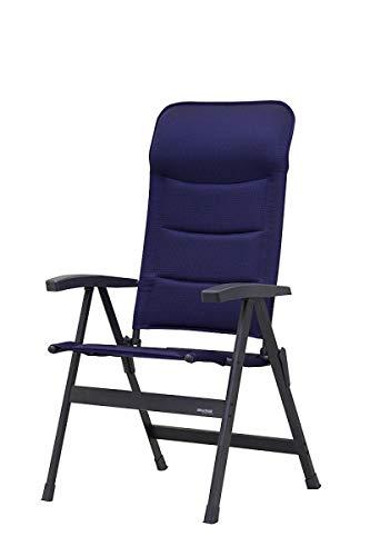 Top – Peu encombrante avec – Stabielo Luxe Exclusive – Fauteuil pliant en aluminium – chaise pliante – Bas Dossier ergonomique – Couleur : Bleu Fish Bone – Holly® produits Stabielo Holly Sunshade – Innovations fabriqué en Allemagne -