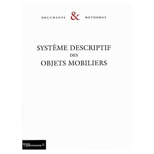 Système descriptif des objets mobiliers