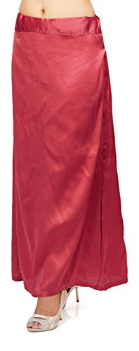 Pkyc Women's Satin Petticoat (Red, 40)