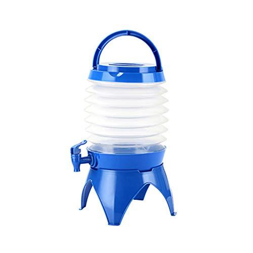 Socialpig 5.5L zusammenklappbarer Getränkewannen-Spender Portabl Leichter Plastikwasserbehälter Getränkespender für Picknick im Freien