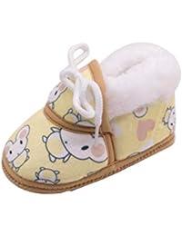 Zapatos de Primeros Pasos para Unisex Bebés Niñas Niños Otoño Invierno PAOLIAN Suela Blanda Calzado Cordones