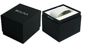 Bulova 98H51 - Reloj Analógico de Cuarzo para Hombre, correa de Cuero color Blanco de Bulova
