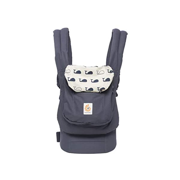 "Ergobaby Baby Carrier Front and Back Original Marine 5.5 to 20kg, Ergonomic Breathable Child Carrier Backpack, BCANMARINE Ergobaby Ergonomic Baby Carrier - Ergonomic for baby with wide deep seat for a spread-squat, natural ""M"" seated position. Baby carrying system with 3 carry positions:  front-inward, hip and back. From baby to toddler: 5.5*-20 kg / 12*-45 lbs (* from 3.2-5.5 kg / 7-12 lbs with Infant Insert, sold separately). Maximum wearing comfort - Lumbar support waistbelt (adjustable from 66-140 cm / 26-52 in) that can be adjusted to the height of the carry position. Longer lasting wearing comfort thanks to optimum weight distribution across the wearer's shoulders and hips. 6"