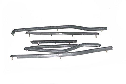 (Set von sechs 6grau Kunststoff Boden Läufer Streifen Lambretta GP SCOOTER (Kunststoff-boden-läufer)