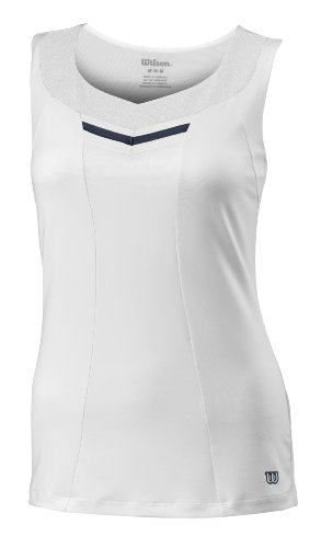 Wilson Damen Tankshirt SU Specialist V Ausschnitt White