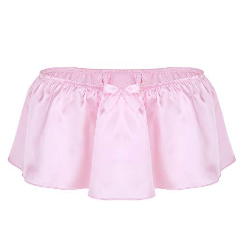 Slip Männer Erotik Dessous Mini Rock Sissy Reizwäsche Unterwäsche Pink Navy Blau Partykleidung Clubwear Rosa XL ()