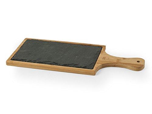 H&h ardesia & bamboo, tagliere, set 2 pezzi, nero, 17x40cm