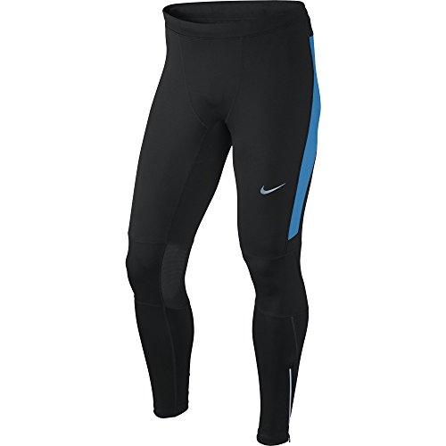 Nike Df Essential Tight-Calzamaglia da uomo UOMO - Multicolore (Nero / azzurro) - M
