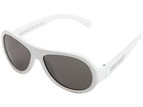 Babiators Jungen BAB-015 Aviator Sonnenbrille, Wicked White