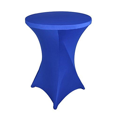 ex ausgestattet dehnbar Elastic quadratisch Ecken dekorativ Tischdecke, königsblau, 28x43 inch ()