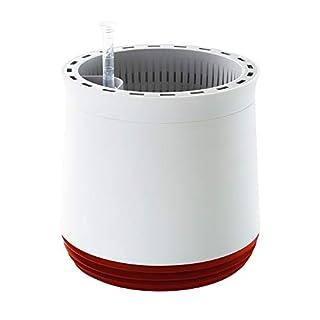 Airy Pot - Luftreiniger Blumentopf Für Allergiker - Patentierter Pflanzen-Topf Als Natürlicher Raumluftfilter Gegen Schadstoffe, Haus-Staub, Pollen, Geruch (Rot)