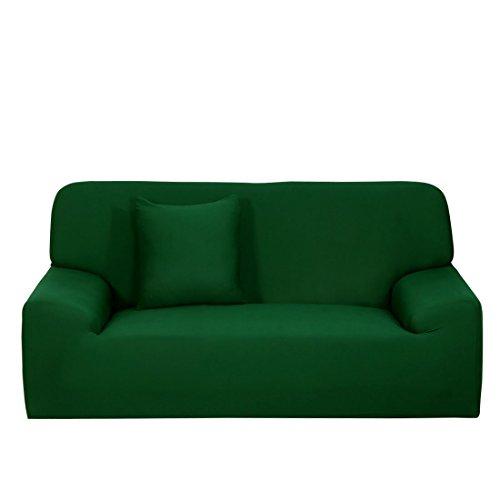 sourcingmap® L- a forma di elasticizzato copridivani sedia Divano copridivano verde scuro per 1 2 3 posti a sedere