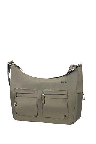 Samsonite Move 2.0 Should. Bag M + 2 Pock. Bolso Bandolera, 7.8 Litros, Color Verde Metalizado