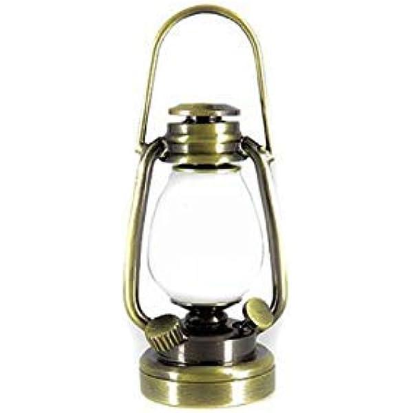 1:12 Miniature Dolls House Vintage Oil Lamp Dolls House Lighting Accessories