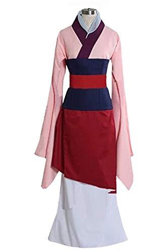 Huiyemy Mulan Kostüm Prinzessin Kleid chinesisches Kleid Damen Rot L