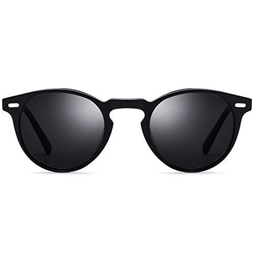BJYG Sport-Sonnenbrille Kleine runde Sonnenbrille Retro-Brille Männer und Frauen mit kreisförmigen polarisierten Gläsern UV-Schutz Sonnenbrille Laufen, Reiten, Angeln Sonnenbrille