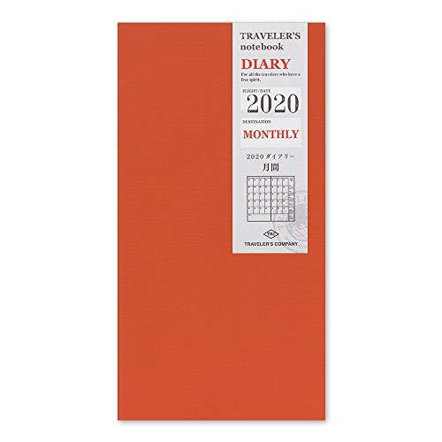 Traveler's Notebook 2020 Monthly Diary Regular Size - Refill agenda mensile