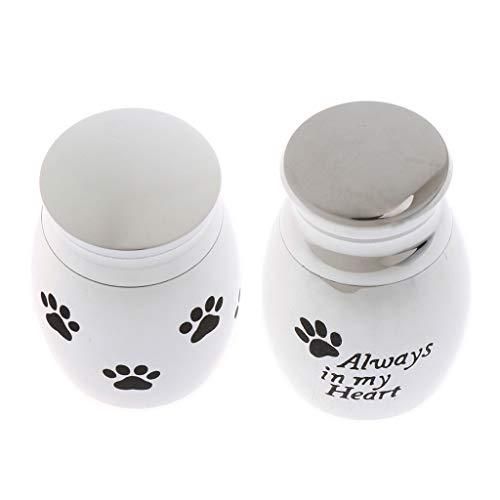 IPOTCH 2 Pcs 4 x 3 cm Urna para Cenizas de Mascotas para Recuerdo y Mantenimiento de Su Perro Gato