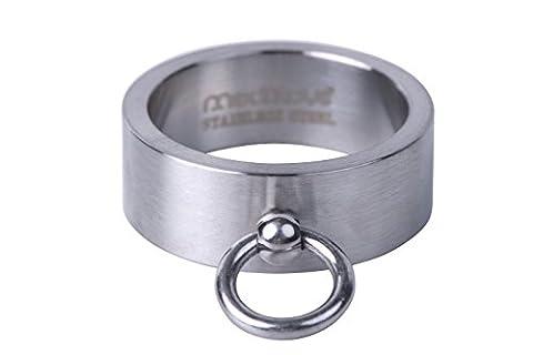 meditoys® - 'Ring der O' in Edelstahl (matt), SM Finger-Ring Damen Herren – BDSM Schmuck – Geschichte der O - Fifty Shades of Grey – Inkl. eBook