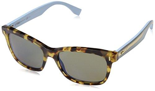 Fendi ff 0086/s 3u hk5 53, occhiali da sole donna, blu (spttdhv bluette/kaki spa blue)