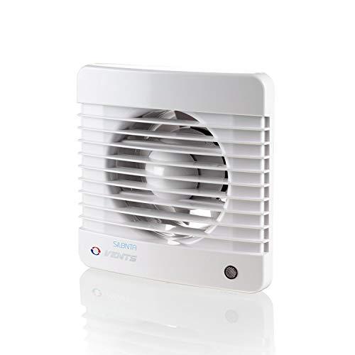 Ventilador extractor silencioso para baño con temporizador de funcionamiento de baja energía,...
