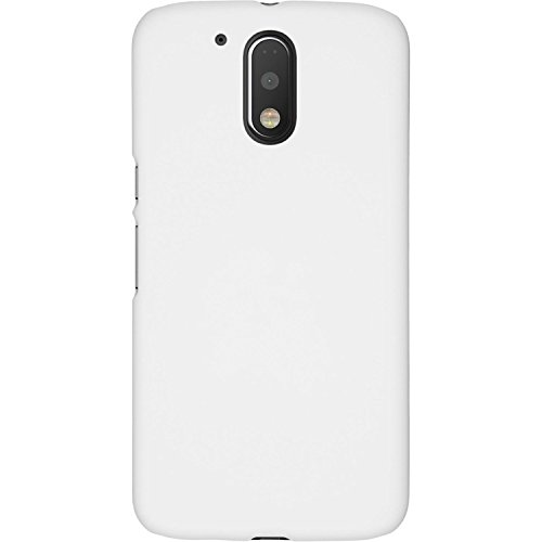 AMFIN For Motorola Moto G4 Play / Moto G Play (4th Gen) / Moto G4 Play / MotoG4 Play / Moto G4 Play 2016 Back Cover Matte Finish Rubberised Slim Hard White Case Back Cover for Motorola Moto G Play 4th Gen (Moto G4 Play) Back Cover Case