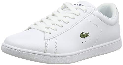 Lacoste Carnaby BL, Damen  Sneaker, Weiß (weiß / dunkelblau weiß/dunkelblau), 39 EU (5.5 UK)