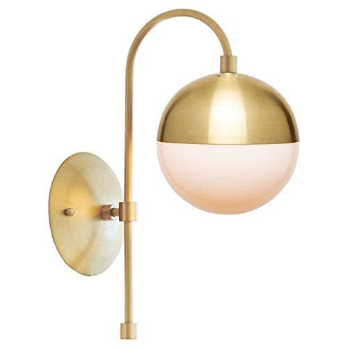 GYR Applique Applique Lampes en cuivre Abat-jour en verre E14 Lumière Têtes simples Fond de salle de séjour Lampes de mur Lampes de restaurant Chambre d'échantillon Chambre Chevet Applique