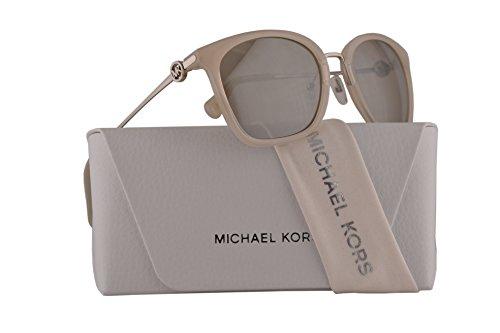 Michael Kors MK2064 Lugano Sunglasses Milky White w/Light Taupe Mirror Lens 53mm 33047U MK 2064