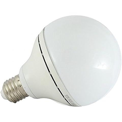 Vision-El - Bombilla led (E27, 20 W, forma de globo, equivale a 160 W, 6000°K, luz blanca fría)