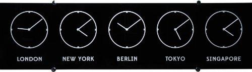 Exclusive Weltzeituhr aus schwarzem Glas